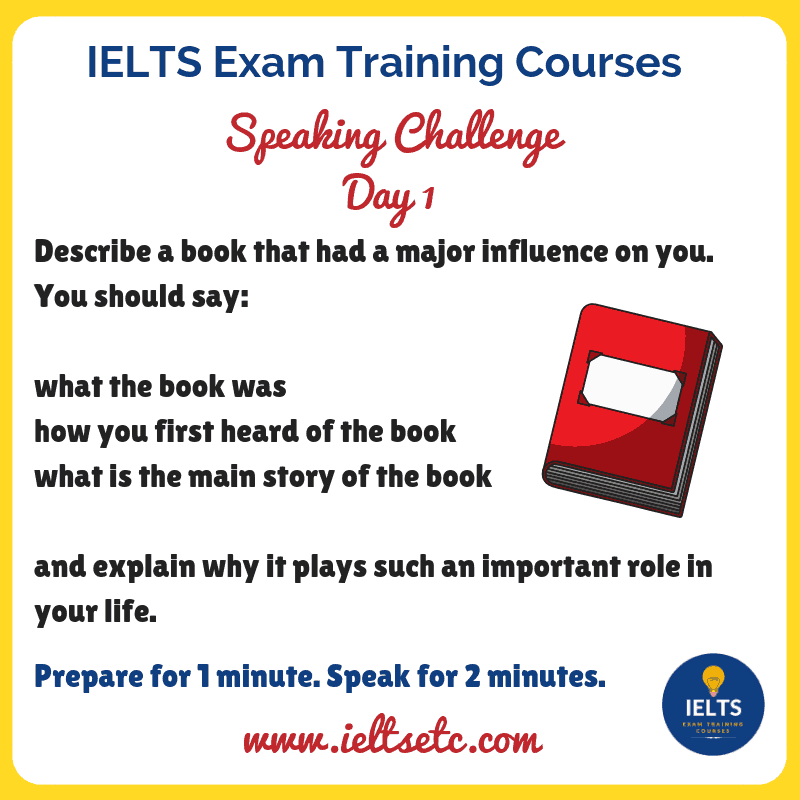 IELTS Part 2 2-minute Long-turn Speaking Challenge