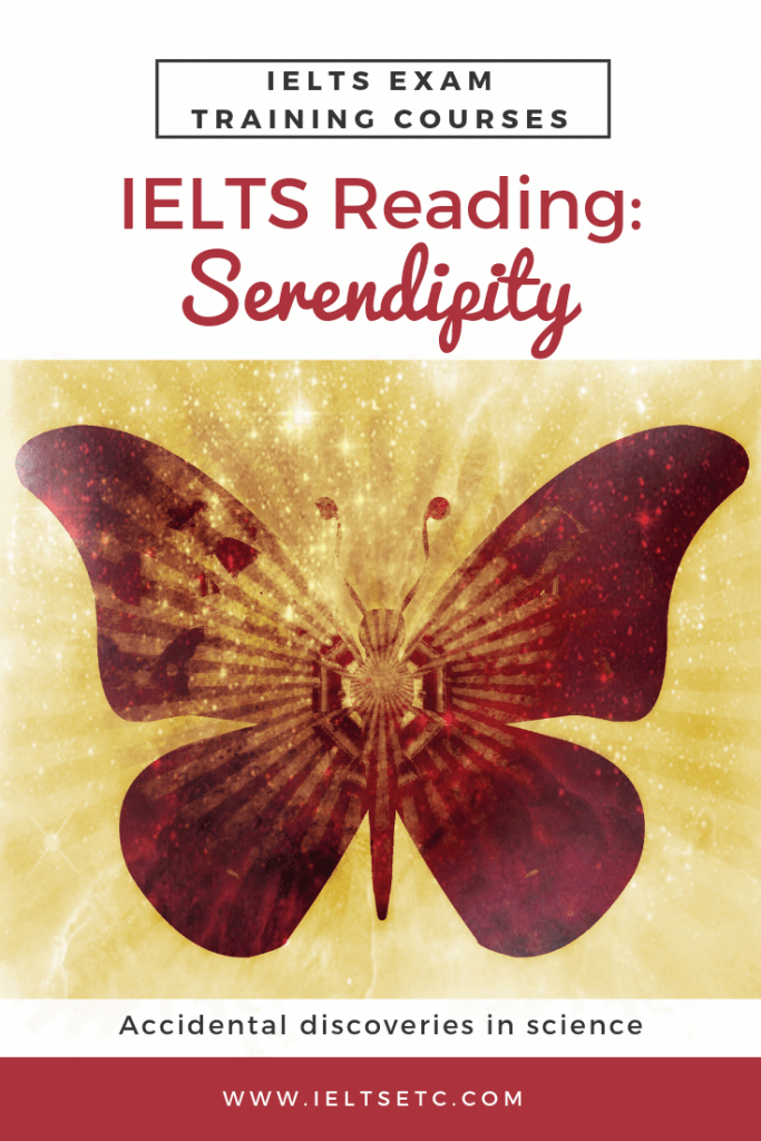 IELTS GT Reading Test - Serendipity - IELTS with Fiona