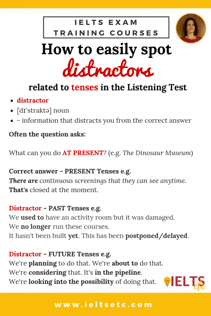 IELTS Listening - how to easily spot distractors related to tenses