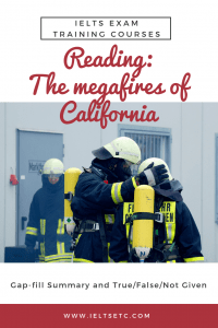 IELTS Reading The megafires of California