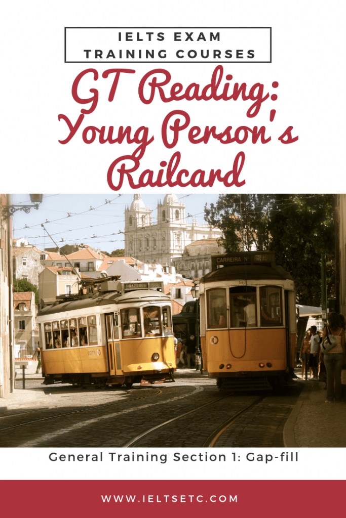 IELTS General Training Young Person's Railcard