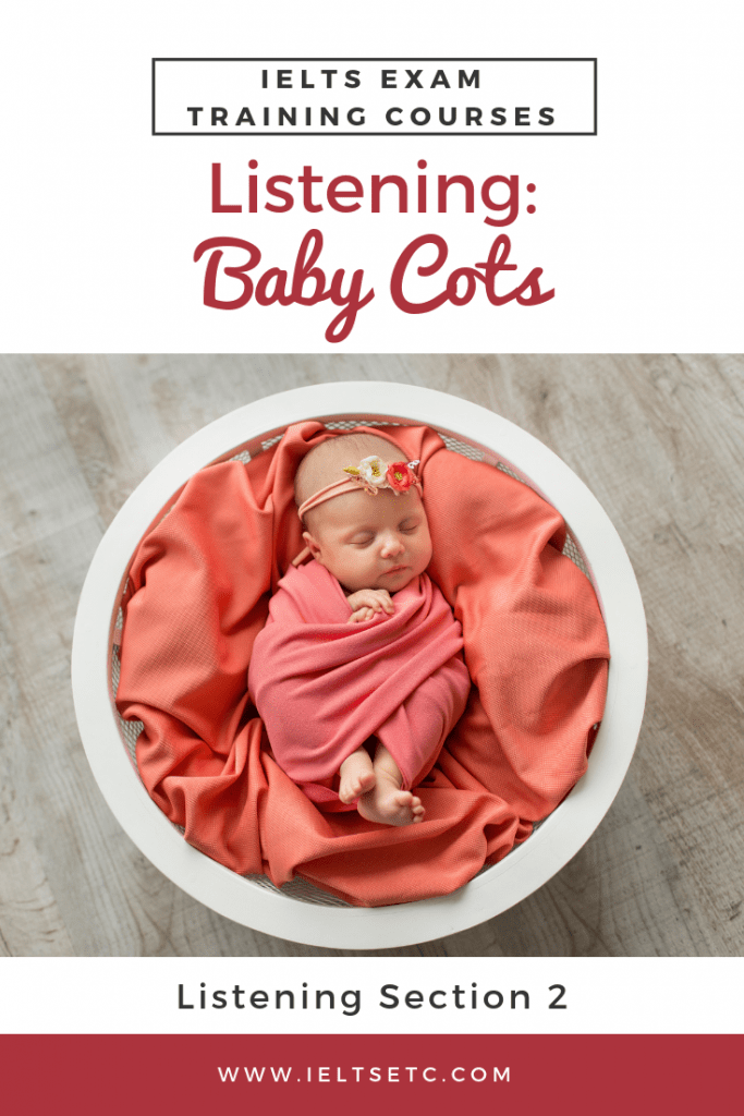 IELTS Listening: Baby Cots - IELTS with Fiona