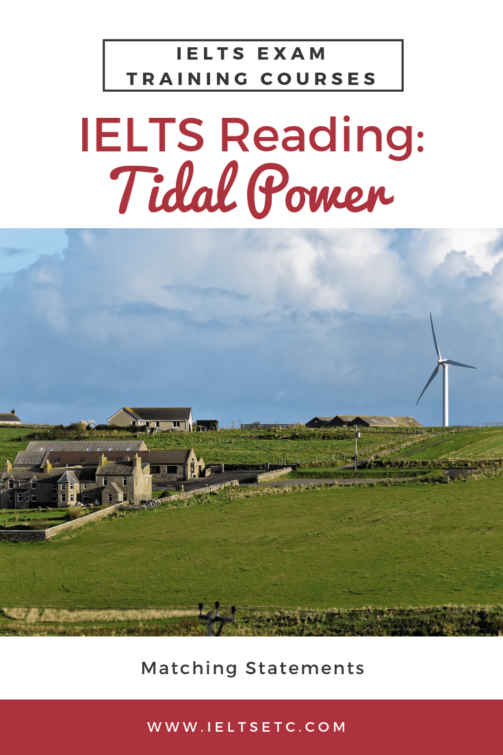IELTS Reading: Tidal Power - IELTS with Fiona