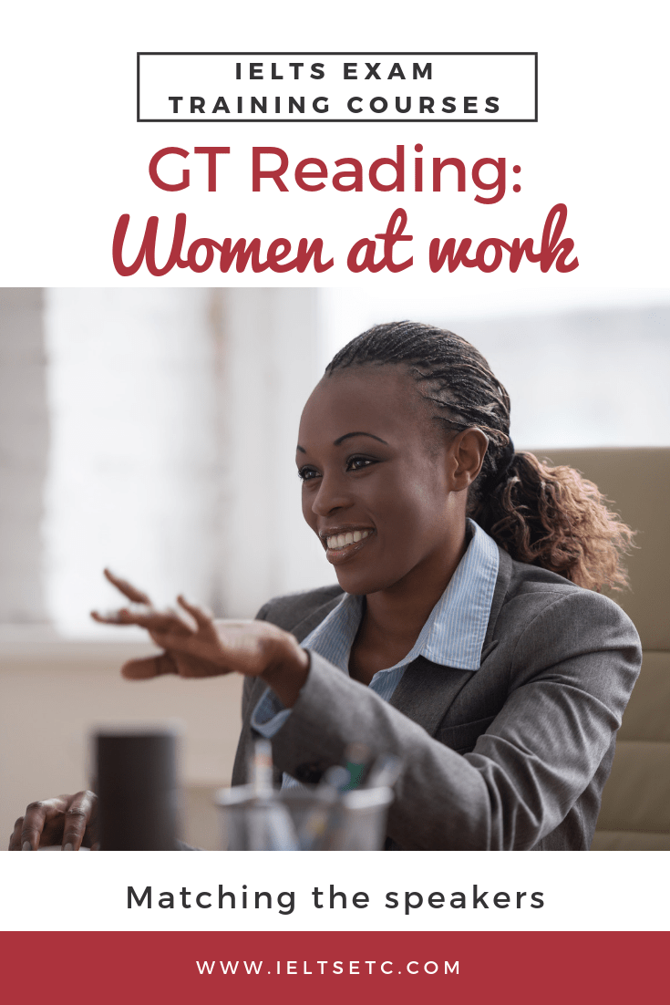 IELTS GT Reading: Women in management positions - IELTS with Fiona