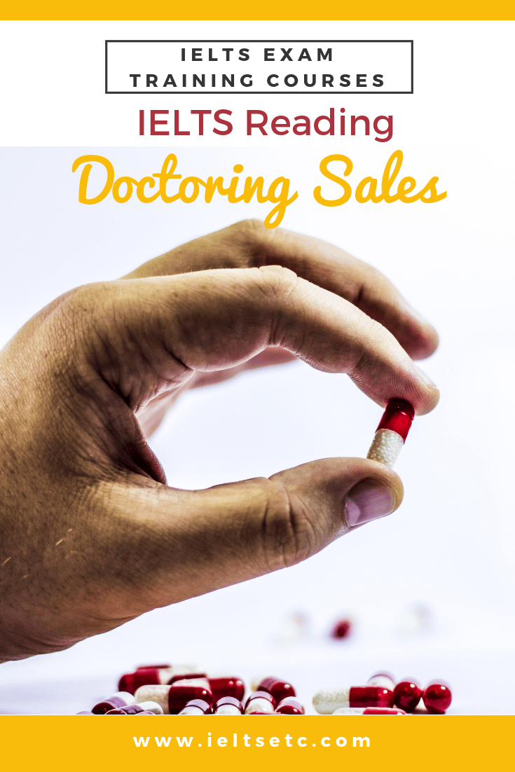 IELTS Reading: Doctoring Sales - the pharmaceutical industry