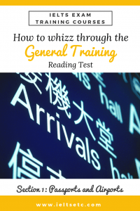 IELTS Reading - Picture of an airport arrival lounge