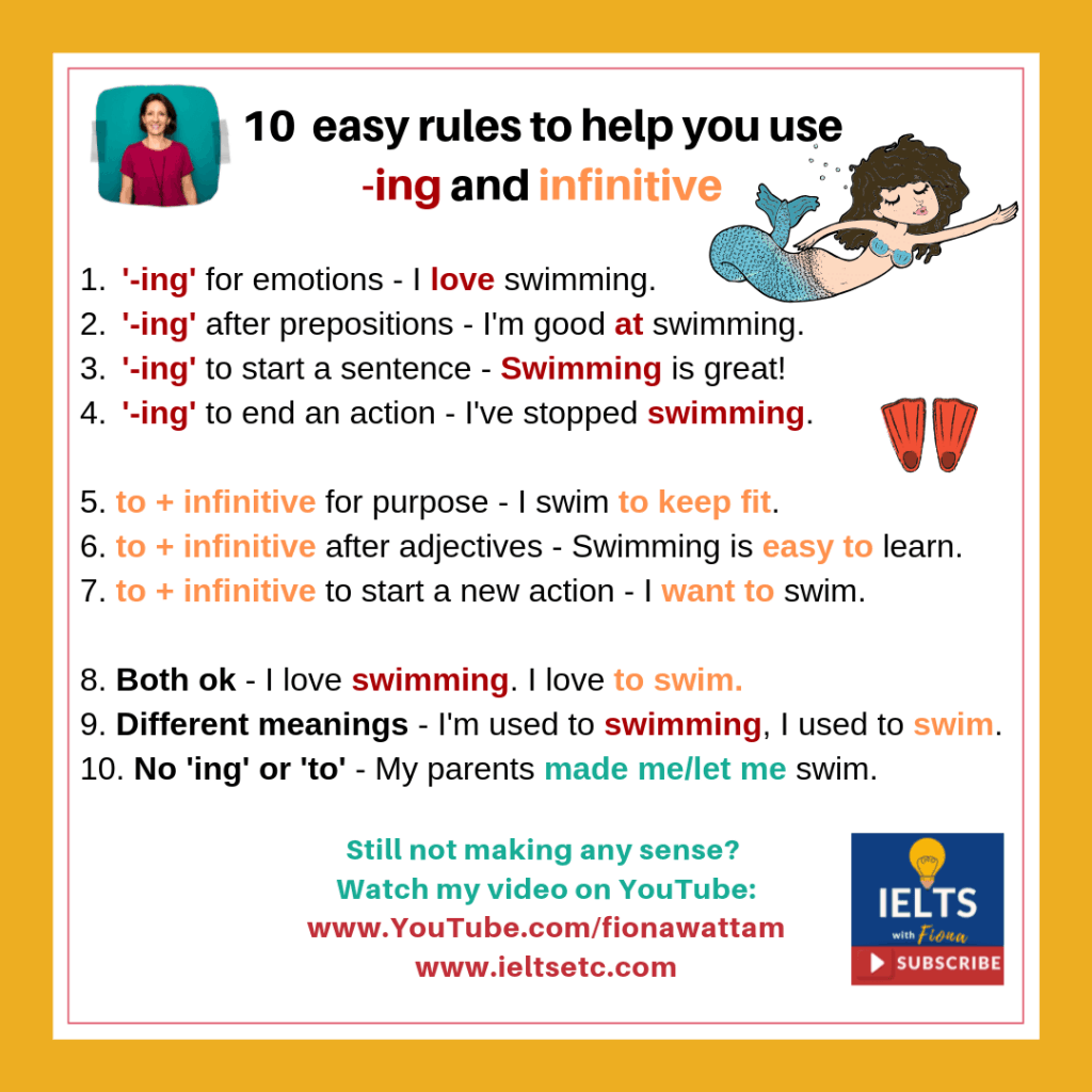 gerund vs infinitive basic rules